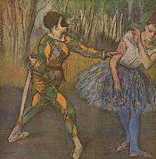 """Edgar Degas, """"Arlecchino e Colombina"""""""